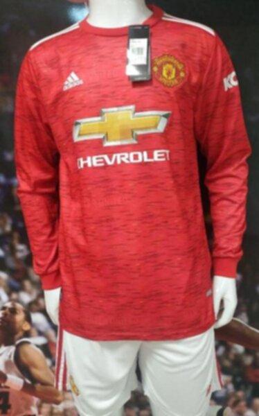 форма Manchester United  длинный рукав   2020-2021  домашняя