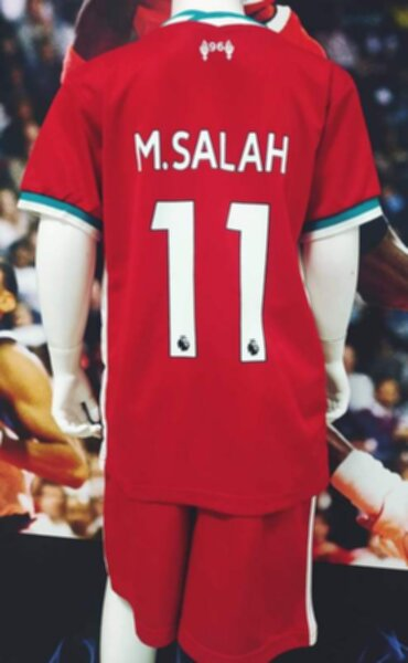 форма детская Liverpool №11 M.SALAH  2020-2021  домашняя
