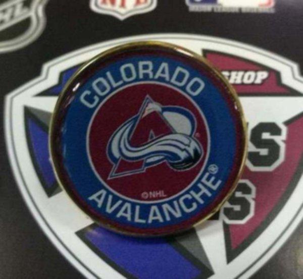 значок Colorado Avalanche (№0771)(2,5см)