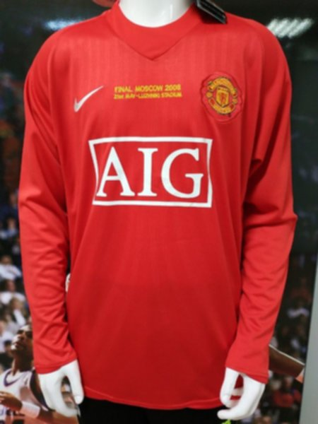 майка Manchester United(ретро)(длинный рукав)(2008)