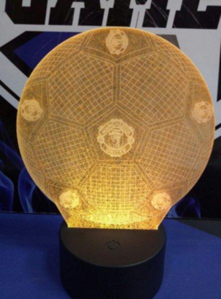 светильник LED Manchester United(19см х 15см х 4см)