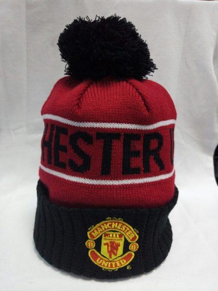шапка Manchester United(с вышивкой)(акрил 100%)