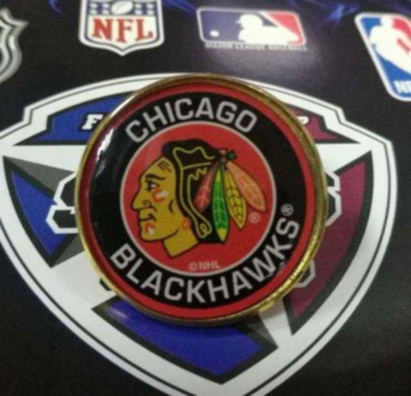 значок Chicago Blackhawks(№0757)(2,5см)