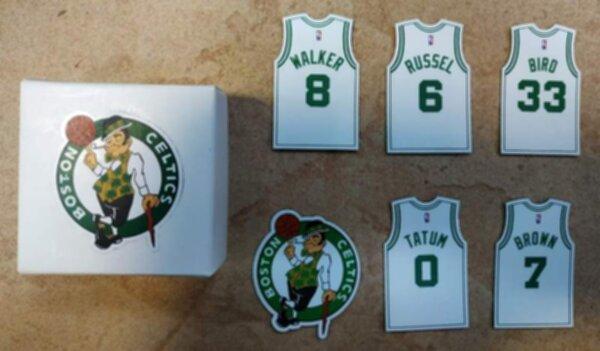 набор магнитов Boston Celtics  6 шт. винил  5 х 4 см