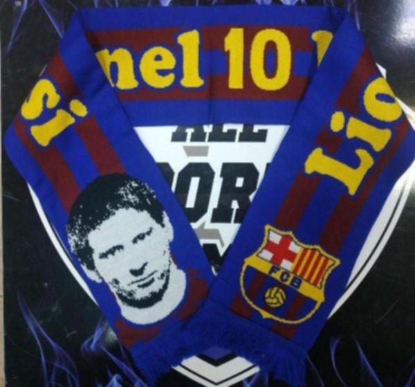 шарф Barcelona Messi(вязанный,двухсторонний)акрил 100%