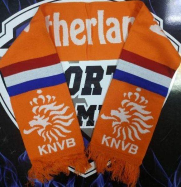 шарф сборной Голландии(вязанный,двухсторонний)акрил 100%