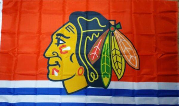 флаг Chicago Blackhawks  150 см х 90 см