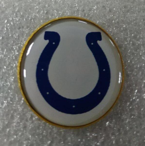 значок Indianapolis Colts №1245  2,5 см металл+полимерная смола