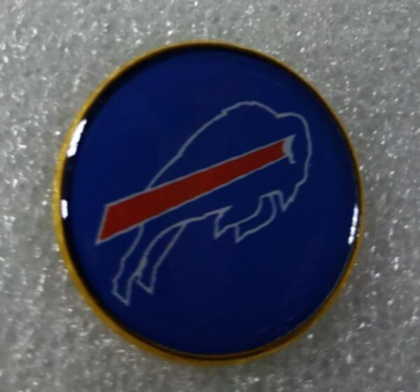 значок Buffalo Bills  №1238  2,5 см металл+полимерная смола