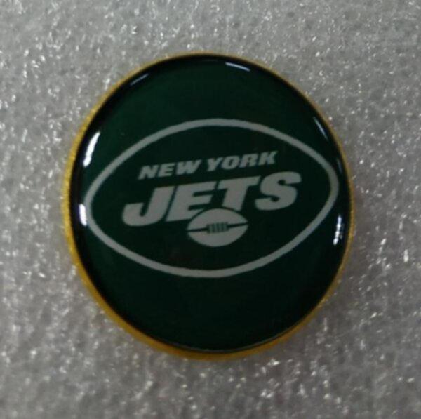 значок New York Jets №1250  2,5 см металл+полимерная смола