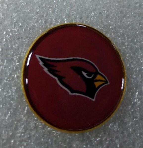 значок Arizona Cardinals  №1235  2,5 см металл+полимерная смола