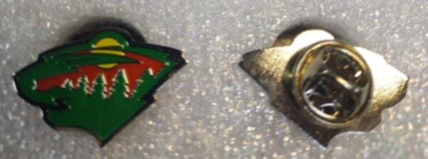 значок  Minnesota Wild №1182  2,5 х 1,5 см  металл
