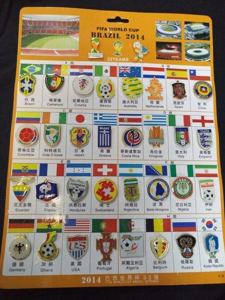 набор значков Brazil 2014