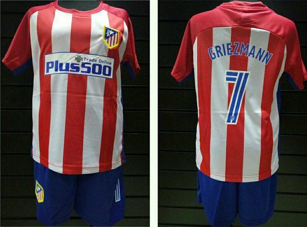 форма детская Atletico Madrid №7 GRIEZMANN(2016-2017)
