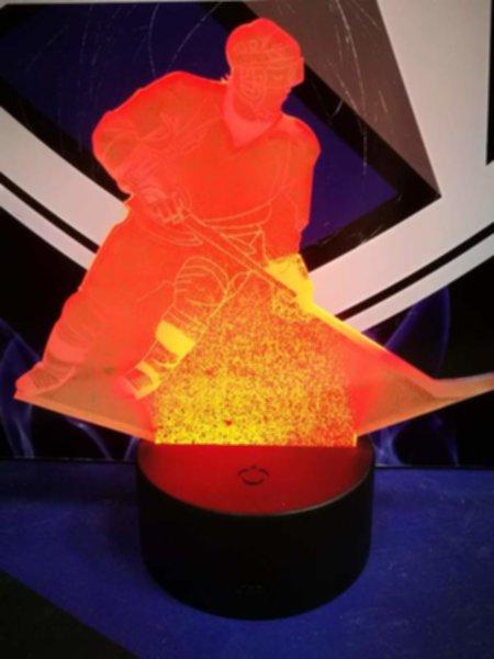 светильник LED хоккеист(19см х 15см х 4см)