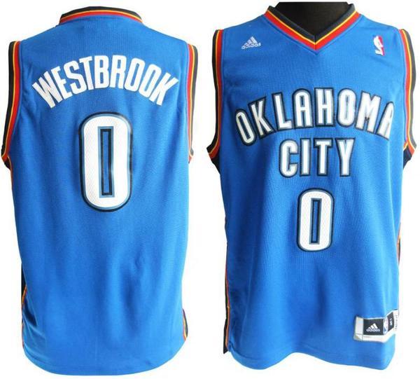 майка баскетбольная  Oklahoma City Thunder №0 WESTBROOK  adidas