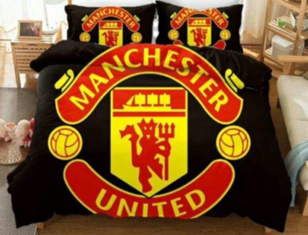 постельный комплект Manchester United(2,0м х 1,5м)(наволочка-2шт+пододеяльник)хлопок
