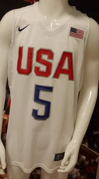 майка сборной США №5 DURANT (белая)